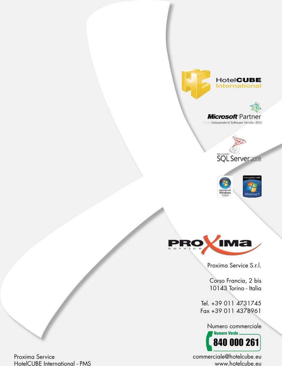 261 Proxima Service HotelCUBE International - PMS