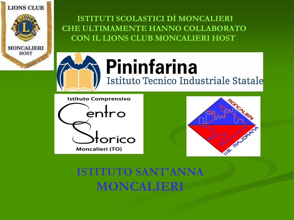 COLLABORATO CON IL LIONS CLUB
