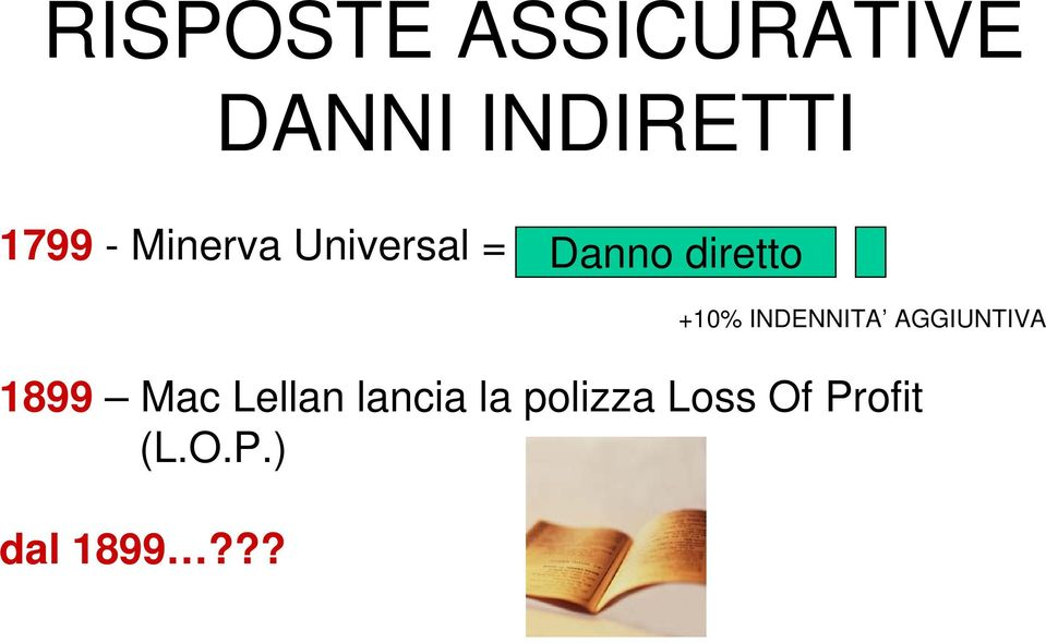 Mac Lellan lancia la polizza Loss Of Profit