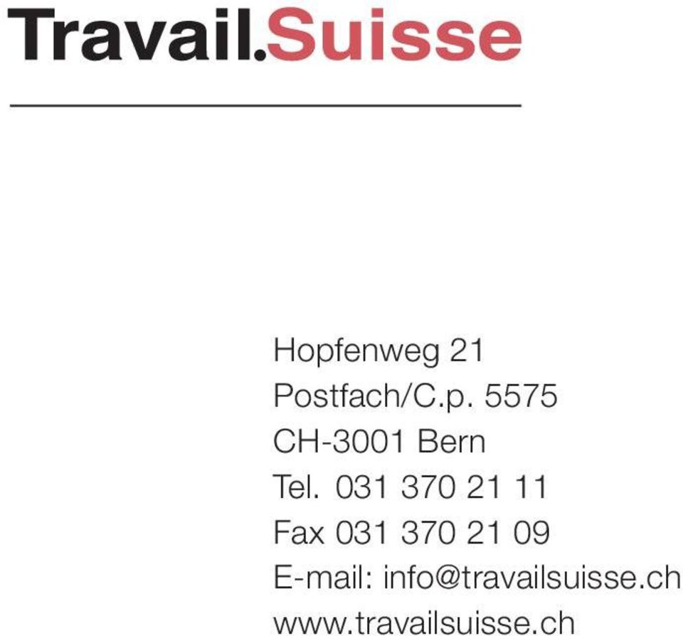 E-mail: info@travailsuisse.