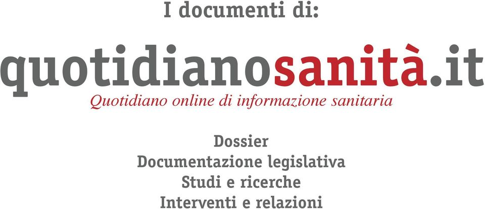 sanitaria Dossier Documentazione