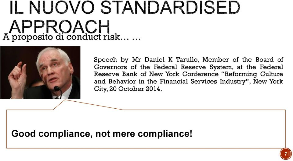 of New York Conference Reforming Culture and Behavior in the Financial
