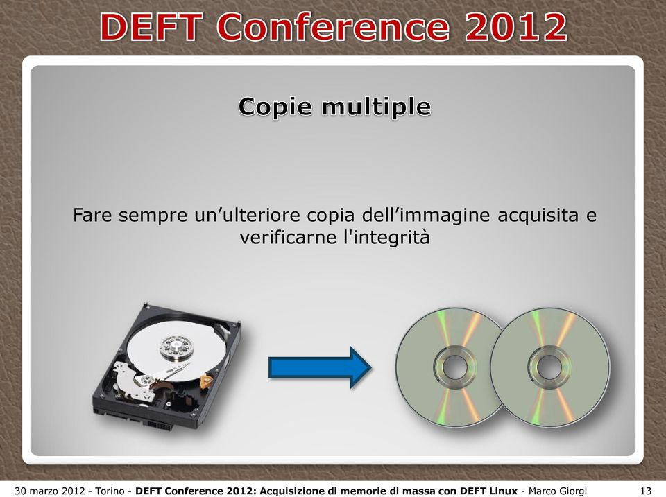 2012 - Torino - DEFT Conference 2012: