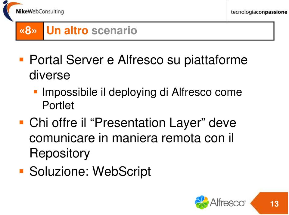 come Portlet Chi offre il Presentation Layer deve