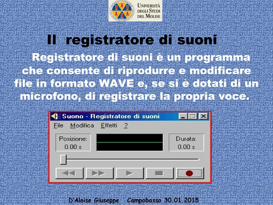 modificare file in formato WAVE e, se si è