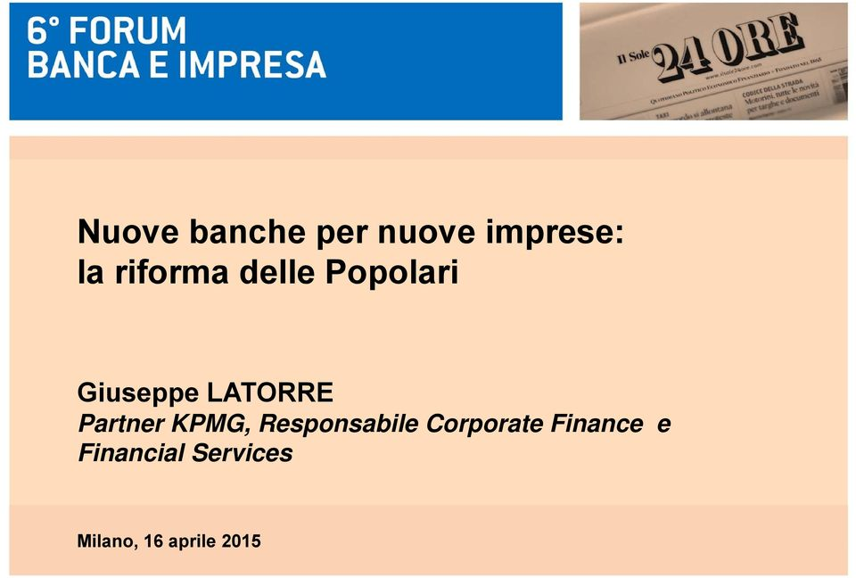 Partner KPMG, Responsabile Corporate