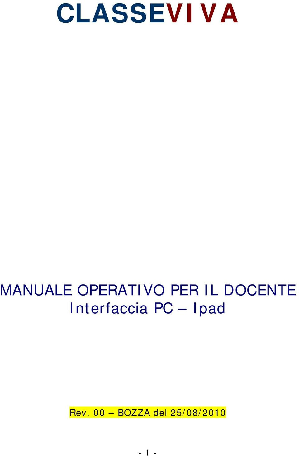 DOCENTE Interfaccia PC