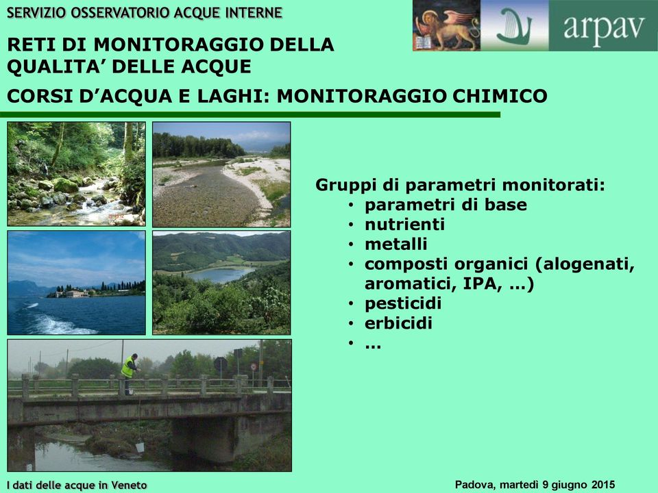 monitorati: parametri di base nutrienti metalli composti