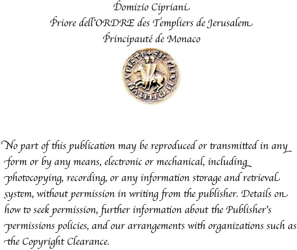 informaton strage and retieval systm, witout permission in writng fom te publisher.