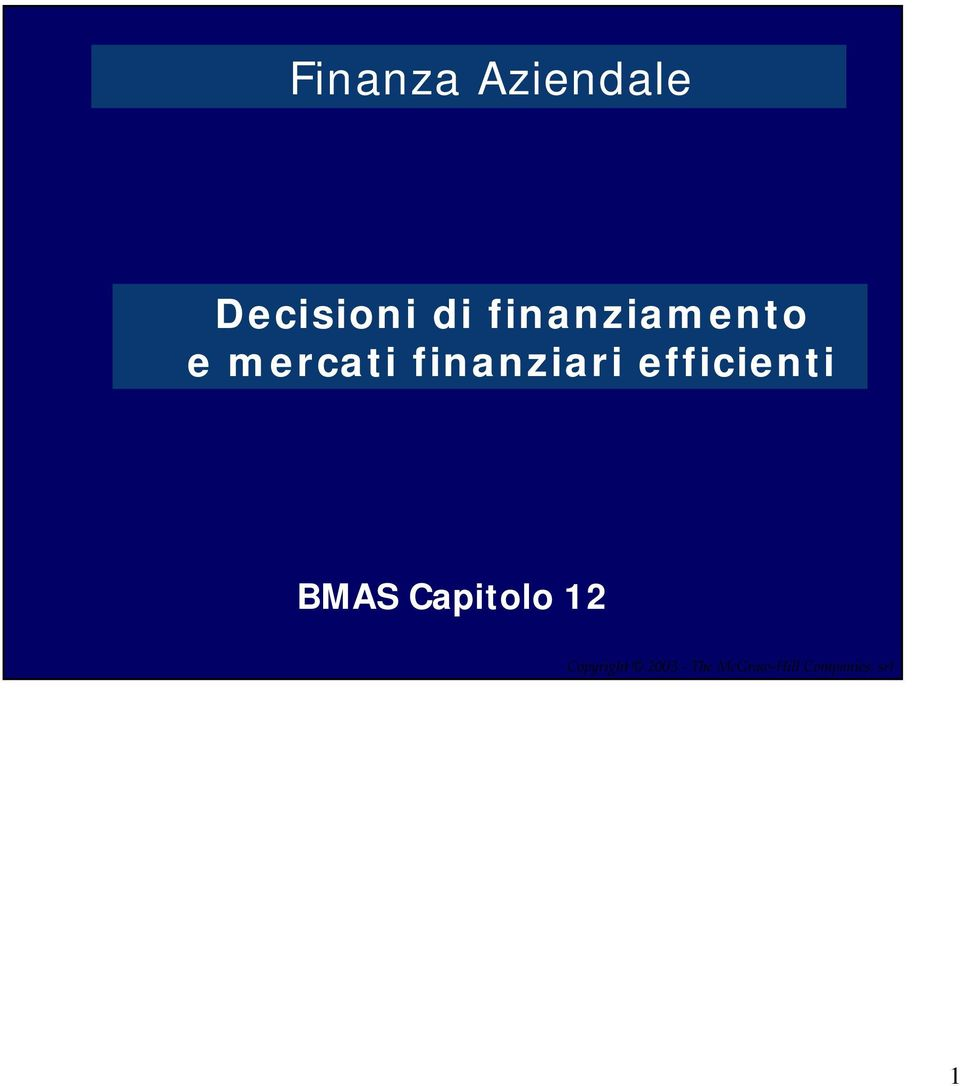 efficienti BMAS Capitolo 12