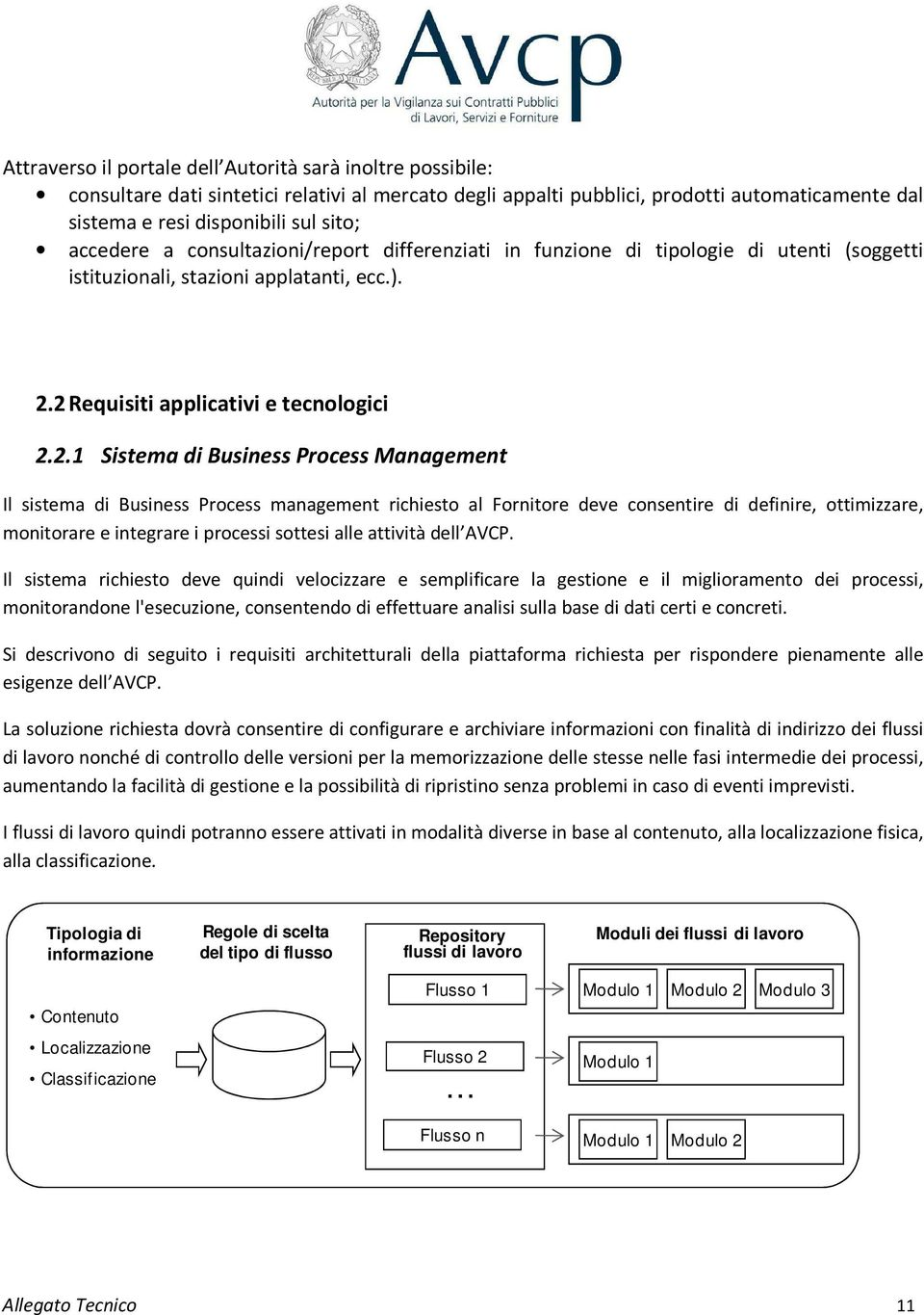 2 Requisiti applicativi e tecnologici 2.2.1 Sistema di Business Process Management Il sistema di Business Process management richiesto al Fornitore deve consentire di definire, ottimizzare,