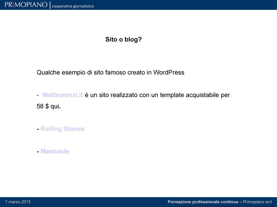 WordPress - Matteorenzi.