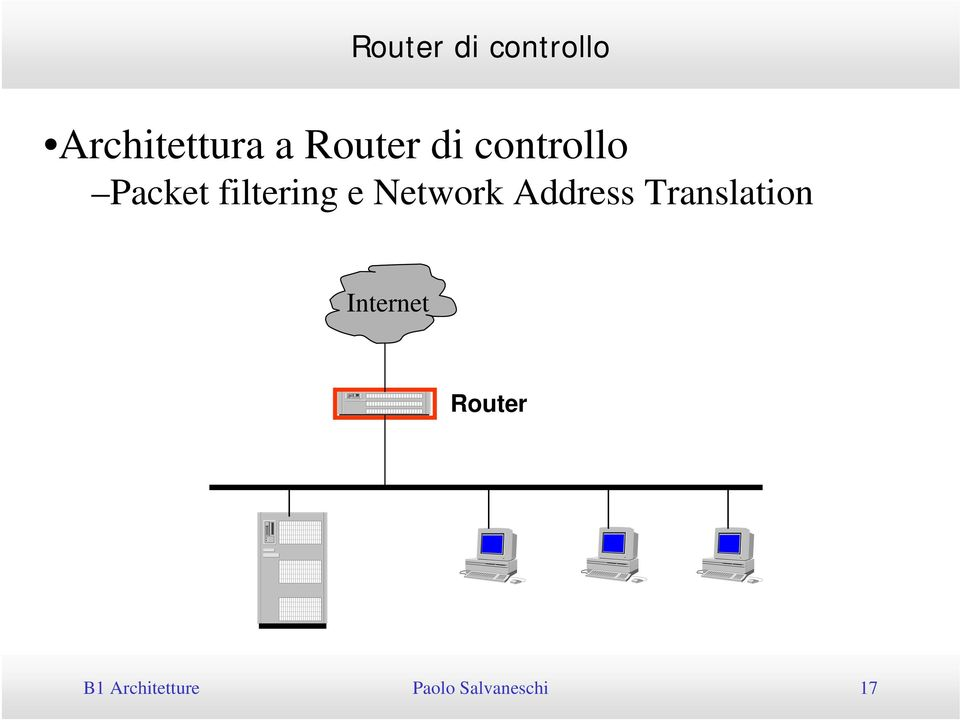 Translation Internet Router B1 Architetture