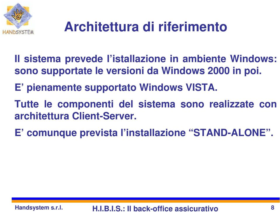 E pienamente supportato Windows VISTA.