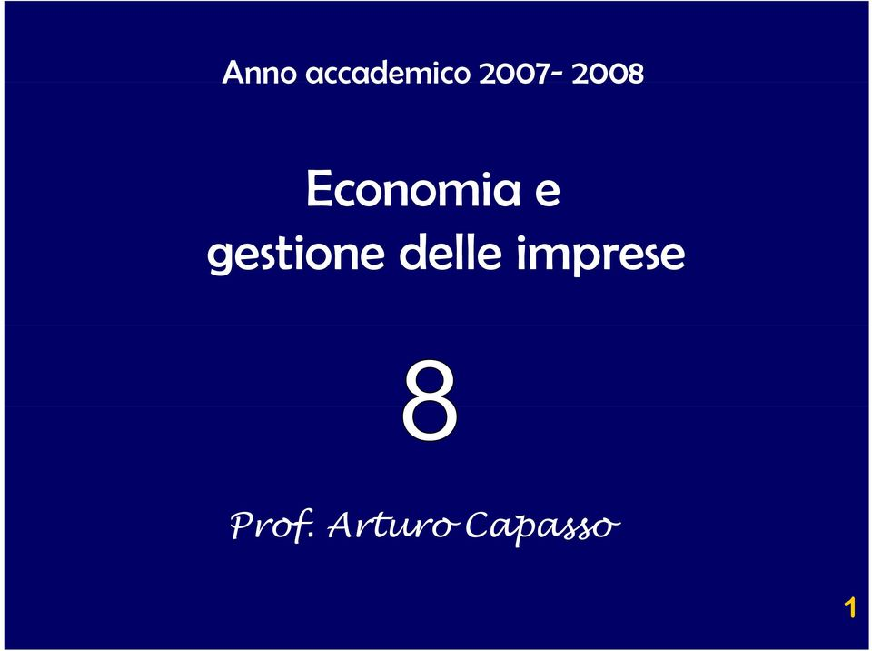 gestione delle