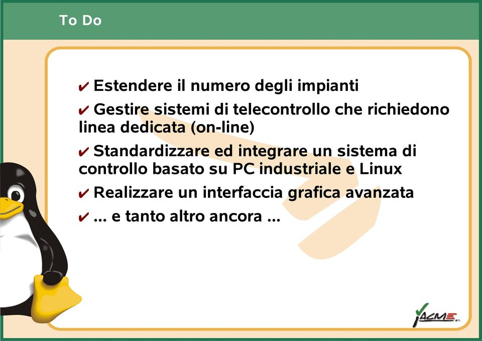 Standardizzare ed integrare un sistema di controllo basato su PC