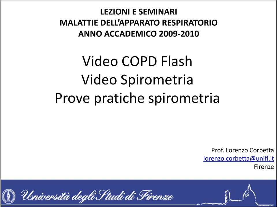 Video COPD Flash Video Spirometria Prove pratiche