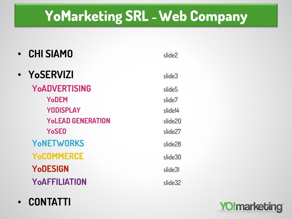 YoLEAD GENERATION slide20 YoSEO slide27 YoNETWORKS slide28