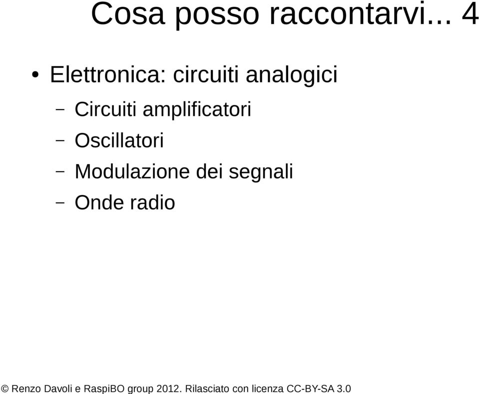 analogici Circuiti amplificatori