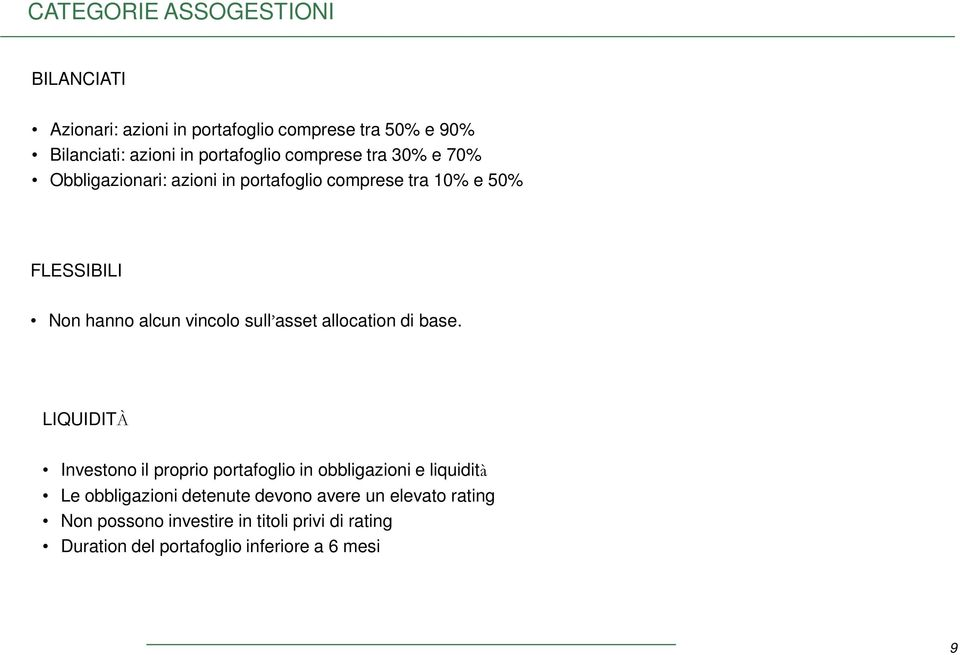asset allocation di base.