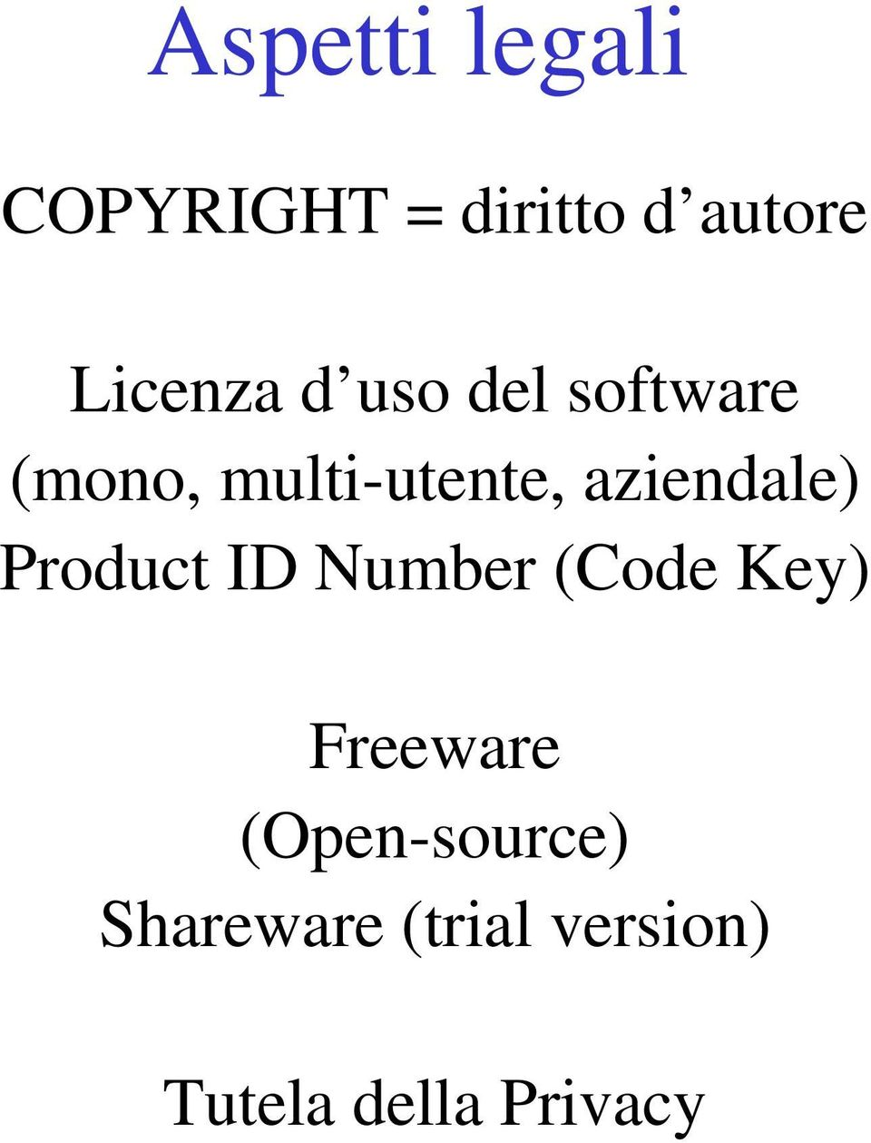 aziendale) Product ID Number (Code Key) Freeware