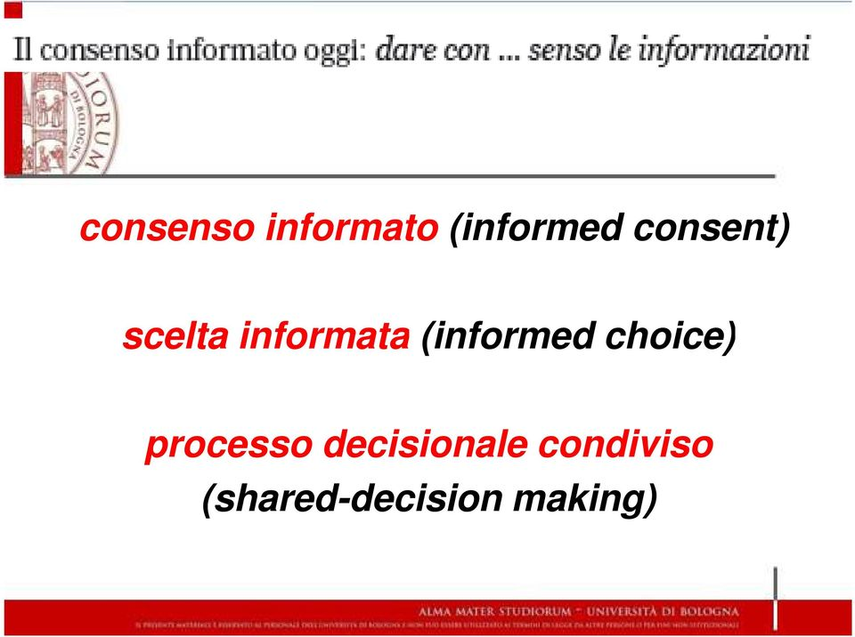 (informed choice) processo