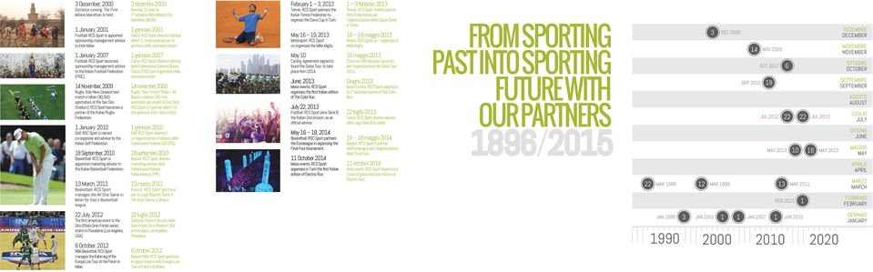 RCS Sport becomes a partner of the Italian Rugby Federation. 1 January, 2010 Golf. RSC Sport is named co-organiser and advisor by the Italian Golf Federation. 18 September, 2010 Basketball.