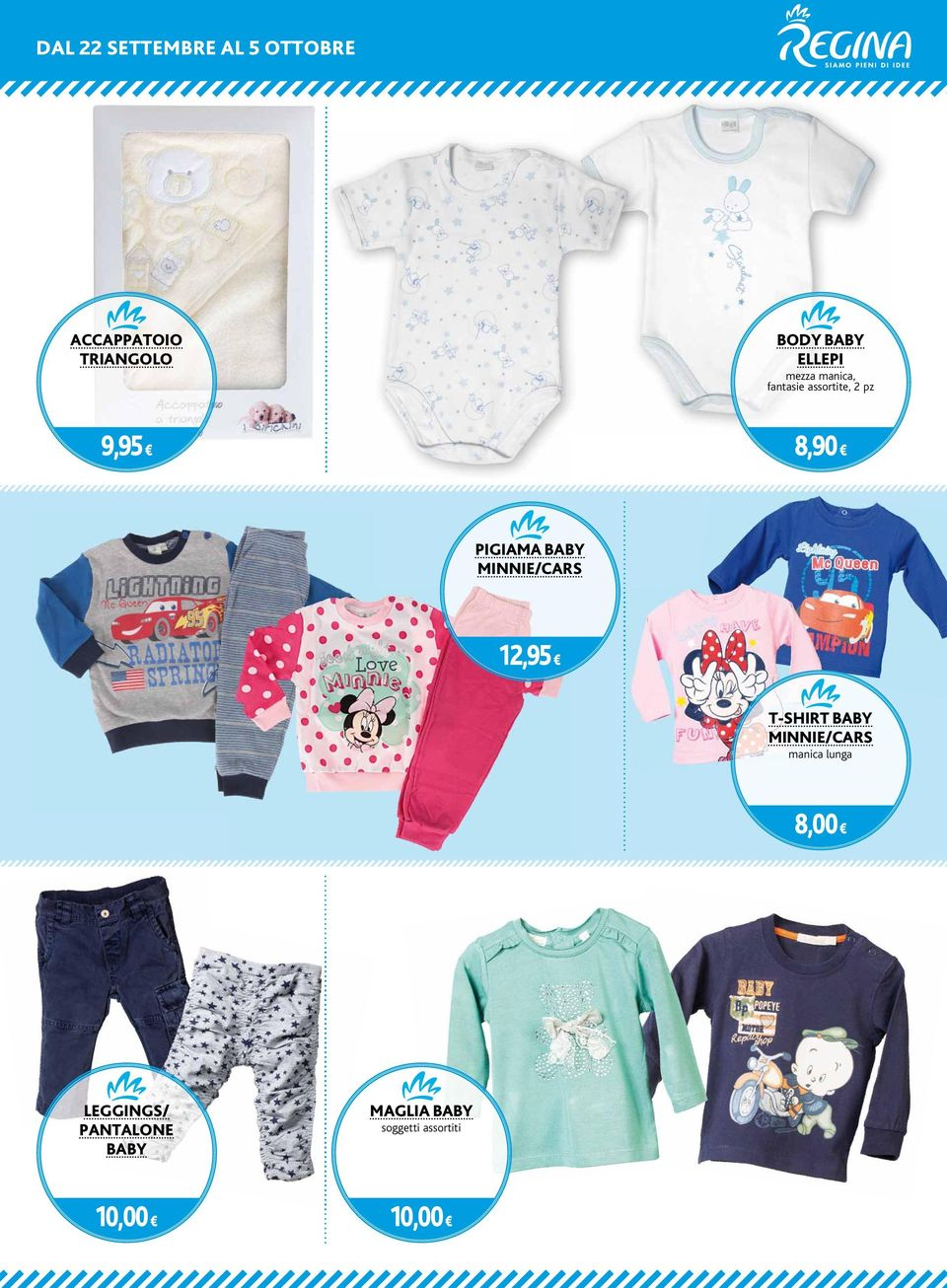 BABY MINNIE/CARS 12,95 T-SHIRT BABY MINNIE/CARS manica lunga