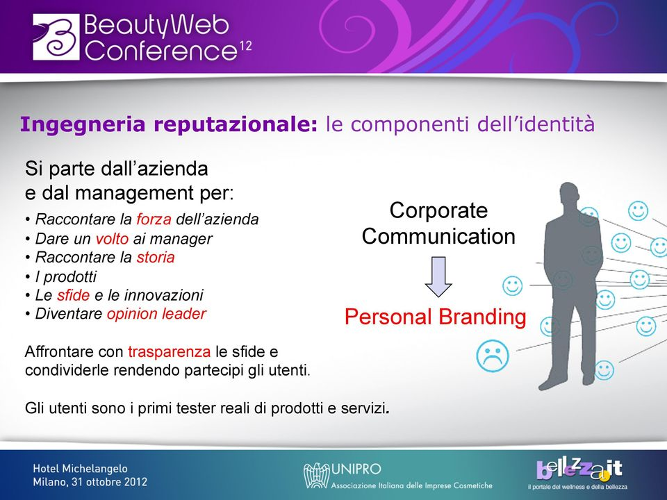 innovazioni Diventare opinion leader Corporate Communication Personal Branding Affrontare con trasparenza