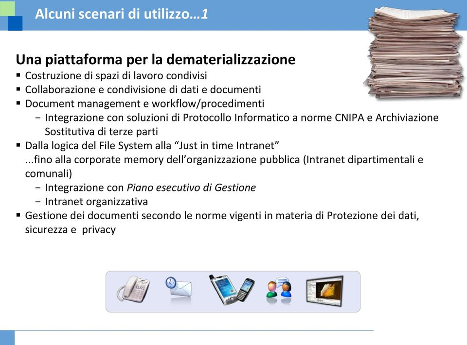 parti Dalla logica del File System alla Just in time Intranet.