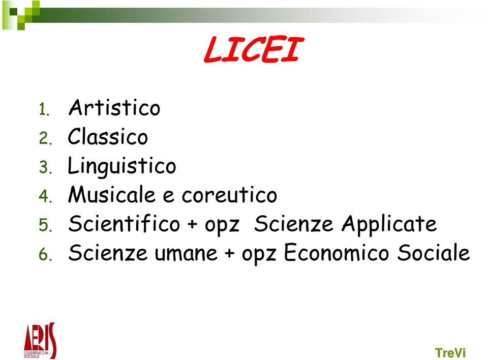 Scientifico + opz Scienze Applicate 6.