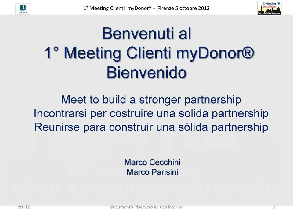 partnership Reunirse para construir una sólida partnership
