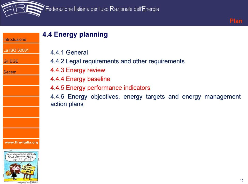 4.6 Energy objectives, energy targets and energy management