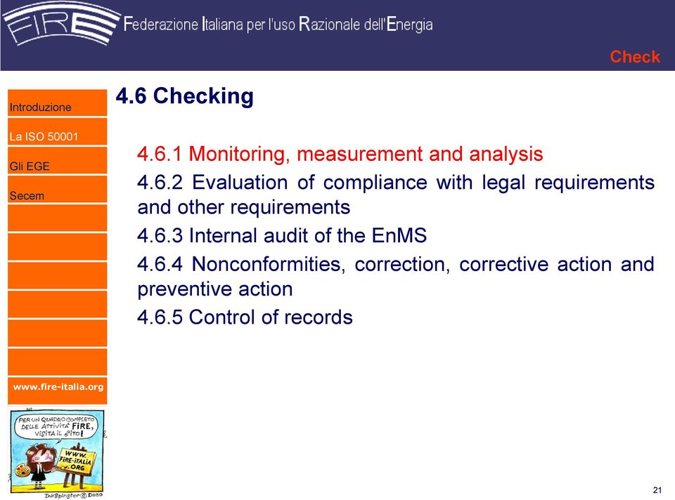 1 Monitoring, measurement and analysis 4.6.