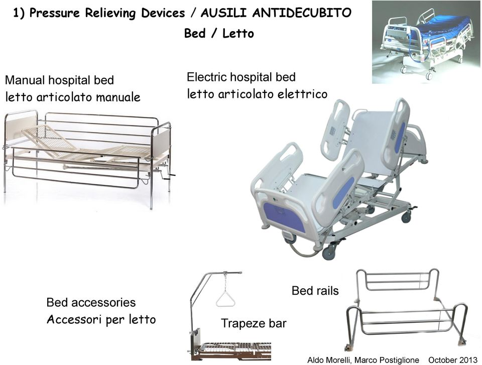 manuale Electric hospital bed letto articolato