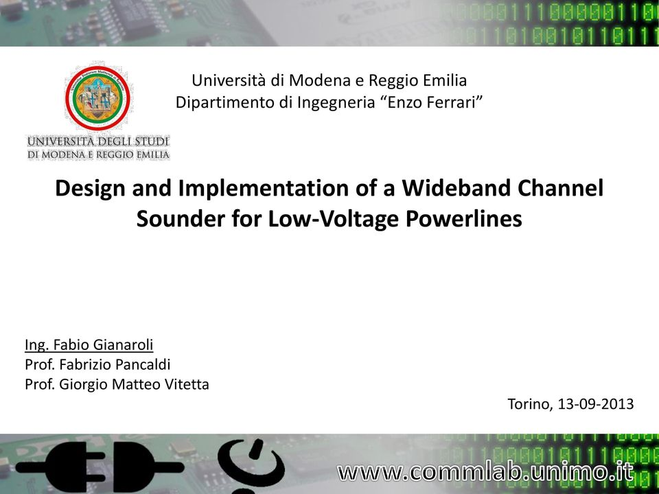 Wideband Channel Sounder for Low-Voltage Powerlines Ing.