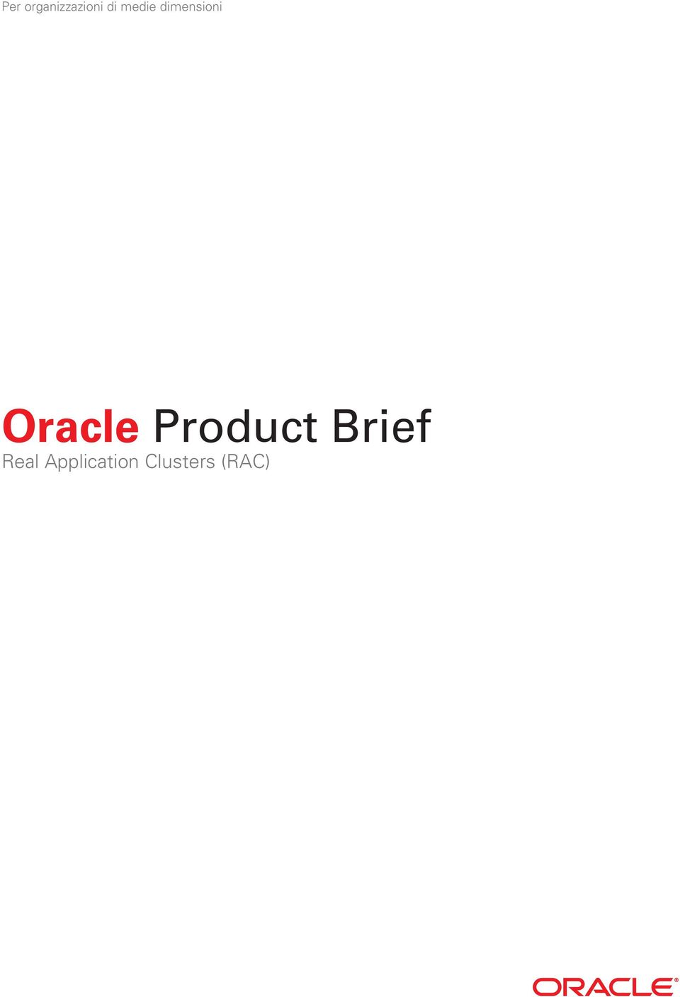 Oracle Product Brief