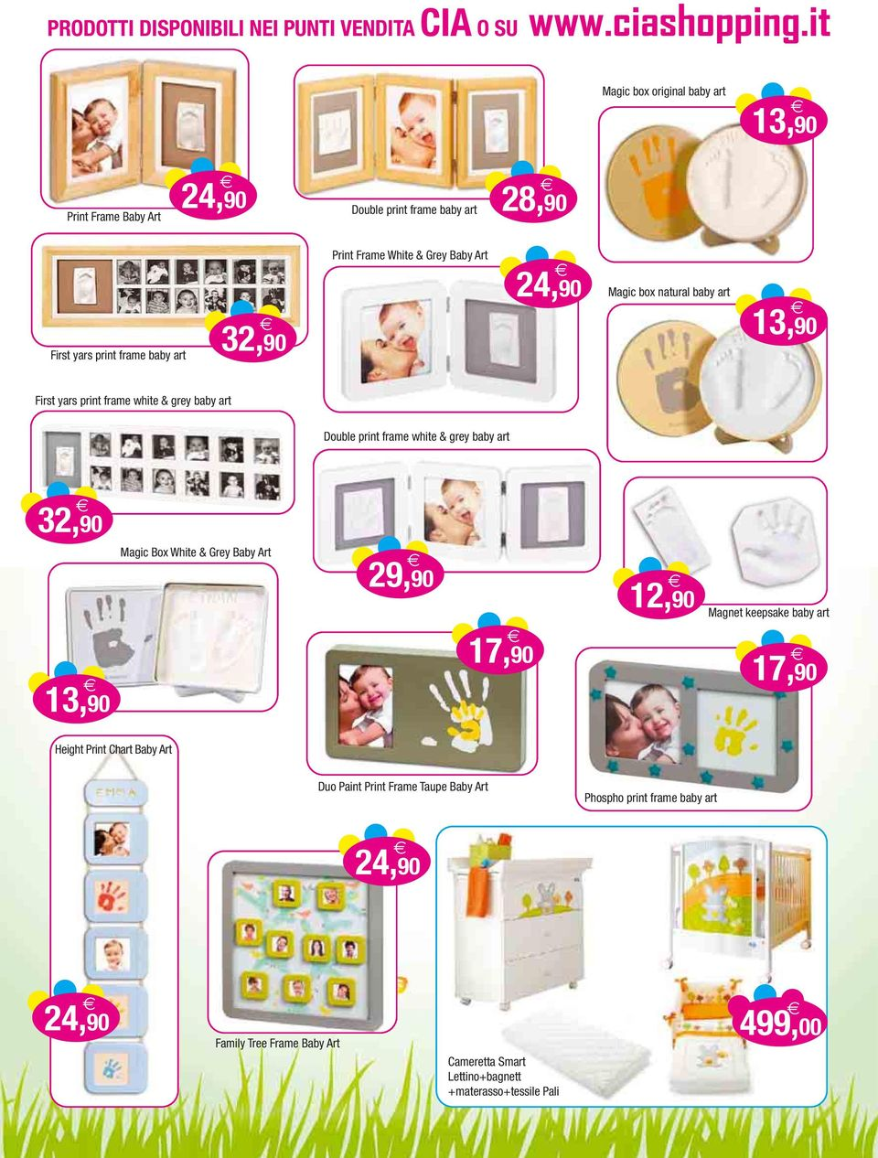 art 32,90 13,90 Magic Box White & Grey Baby Art 29,90 17,90 12,90 Magnet keepsake baby art 17,90 Height Print Chart Baby Art Duo Paint