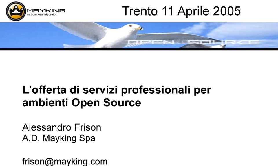 ambienti Open Source Alessandro