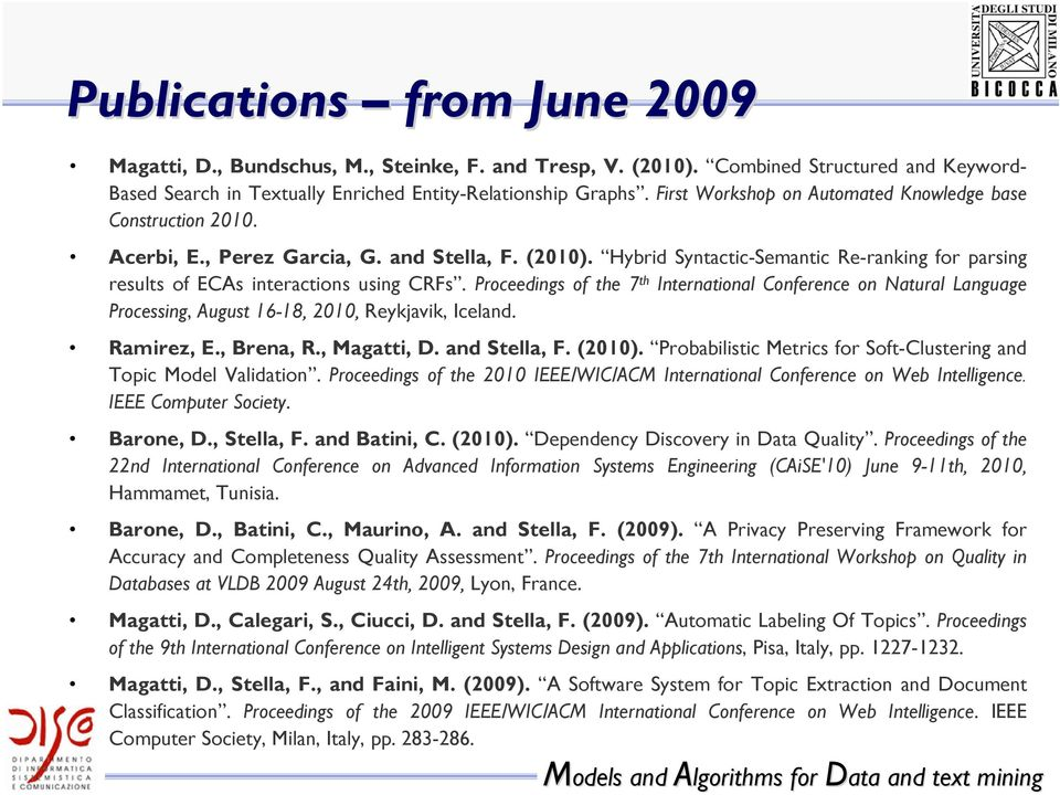 Hybrid Syntactic-Semantic Re-ranking for parsing results of ECAs interactions using CRFs.