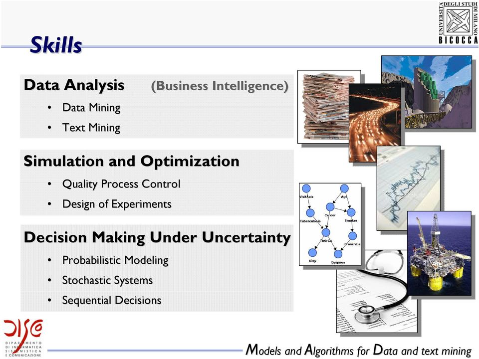 Control Design of Experiments Decision Making Under