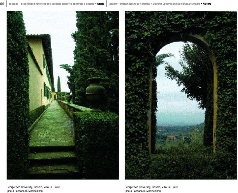Relationship History Georgetown University, Fiesole, Villa Le Balze (photo