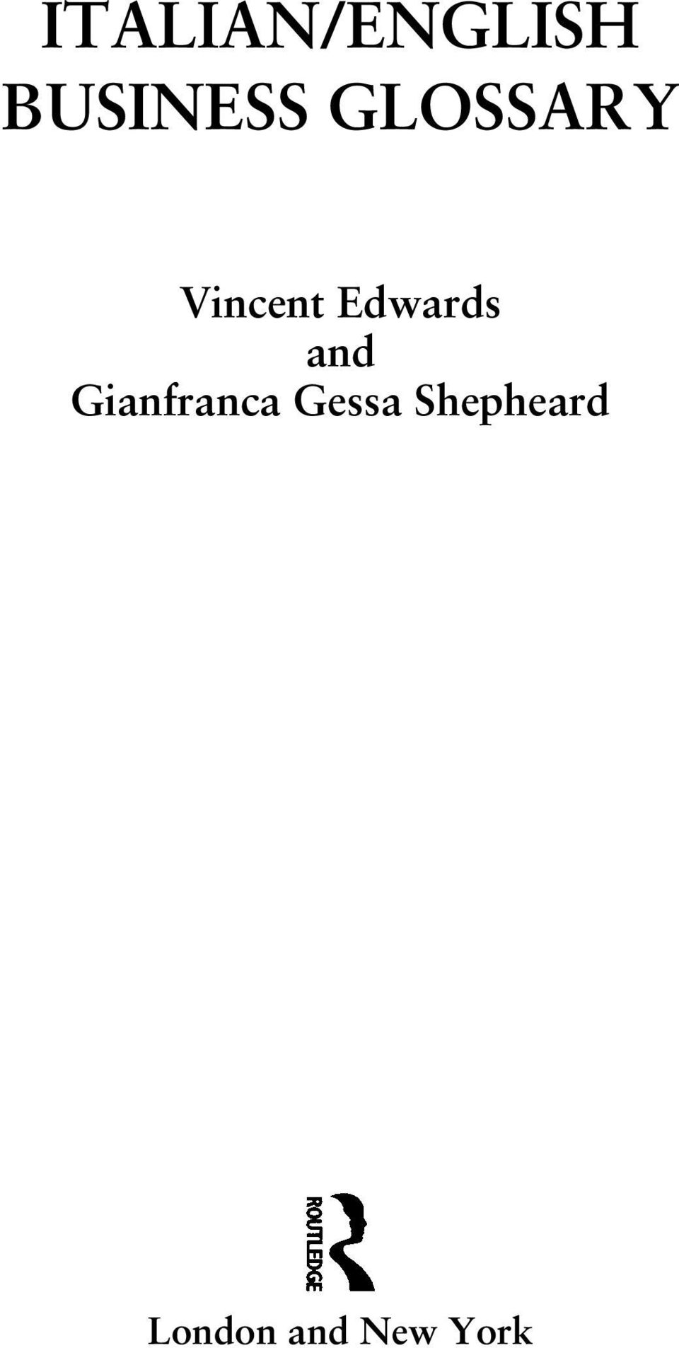 and Gianfranca Gessa
