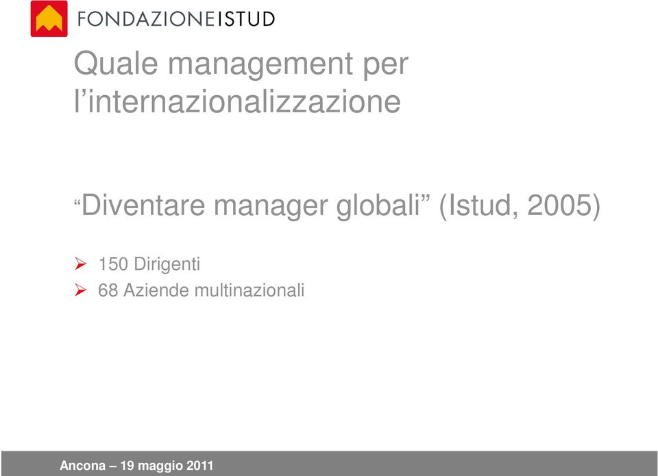 Diventare manager globali
