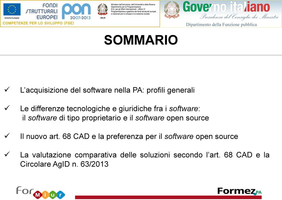 software open source Il nuovo art.