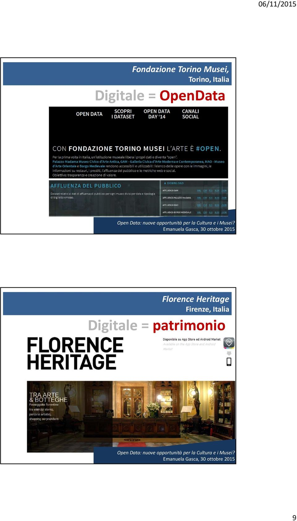 OpenData Florence Heritage