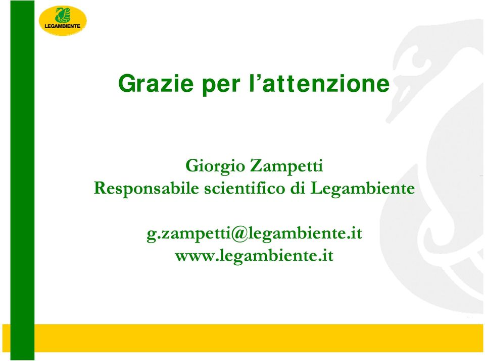 scientifico di Legambiente g.