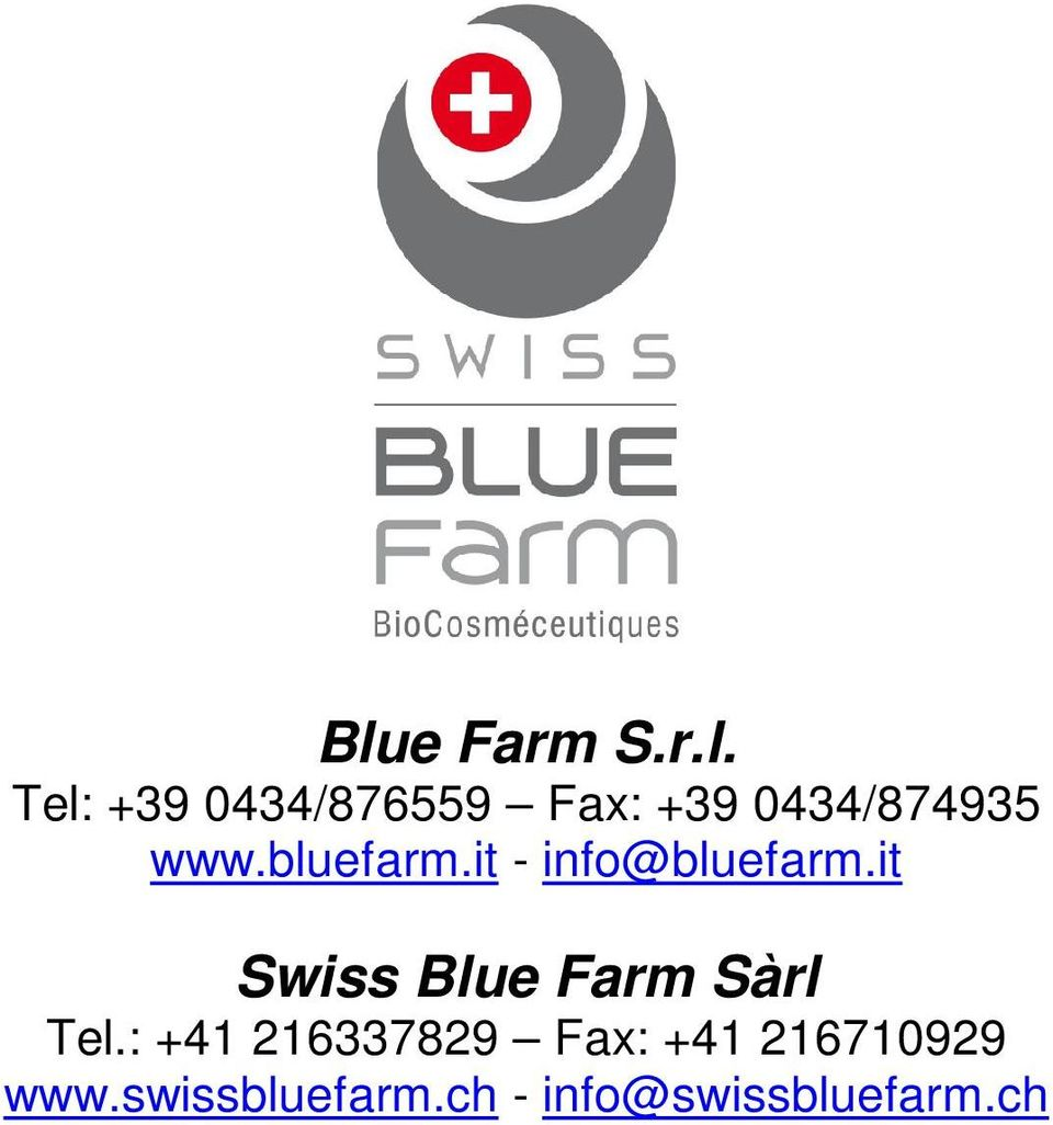 it Swiss Blue Farm Sàrl Tel.
