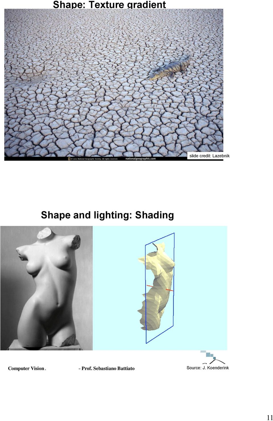 Shape and lighting: