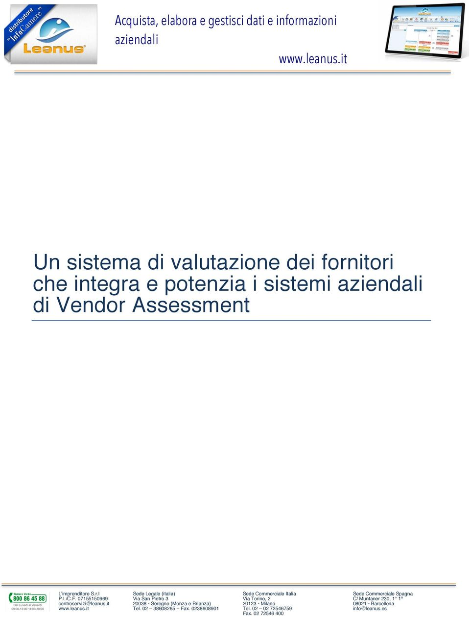 sistemi di Vendor Assessment Tel.